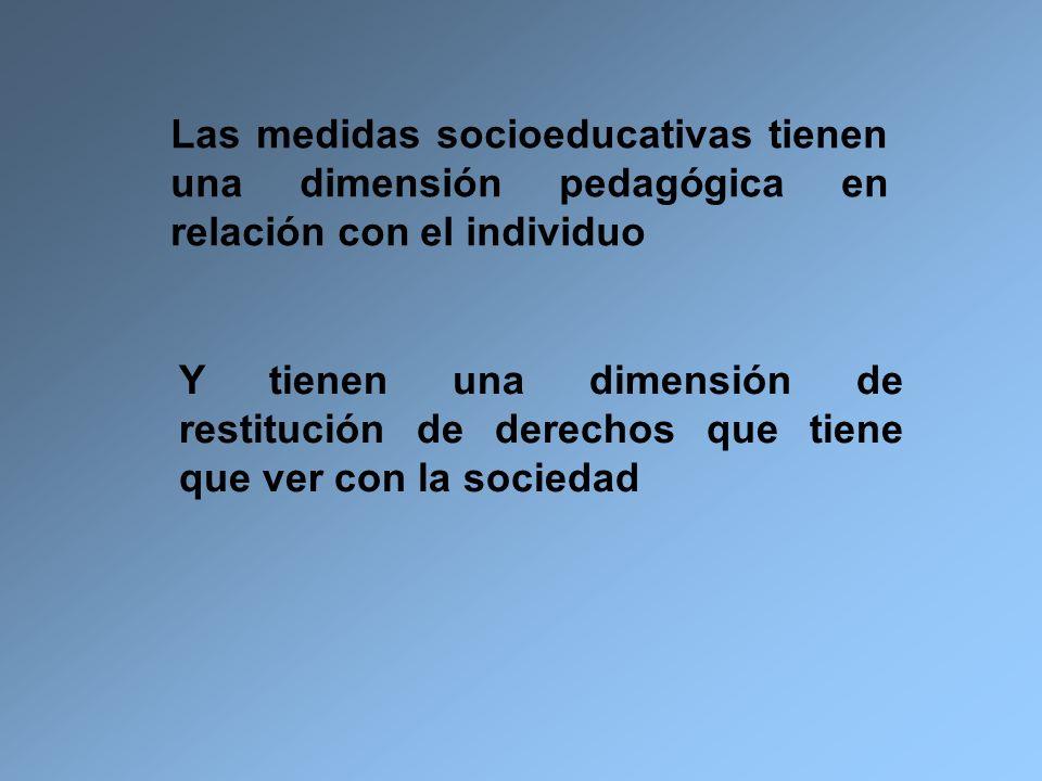 Las medidas socioeducativas tienen una dimensión pedagógica en relación con el individuo