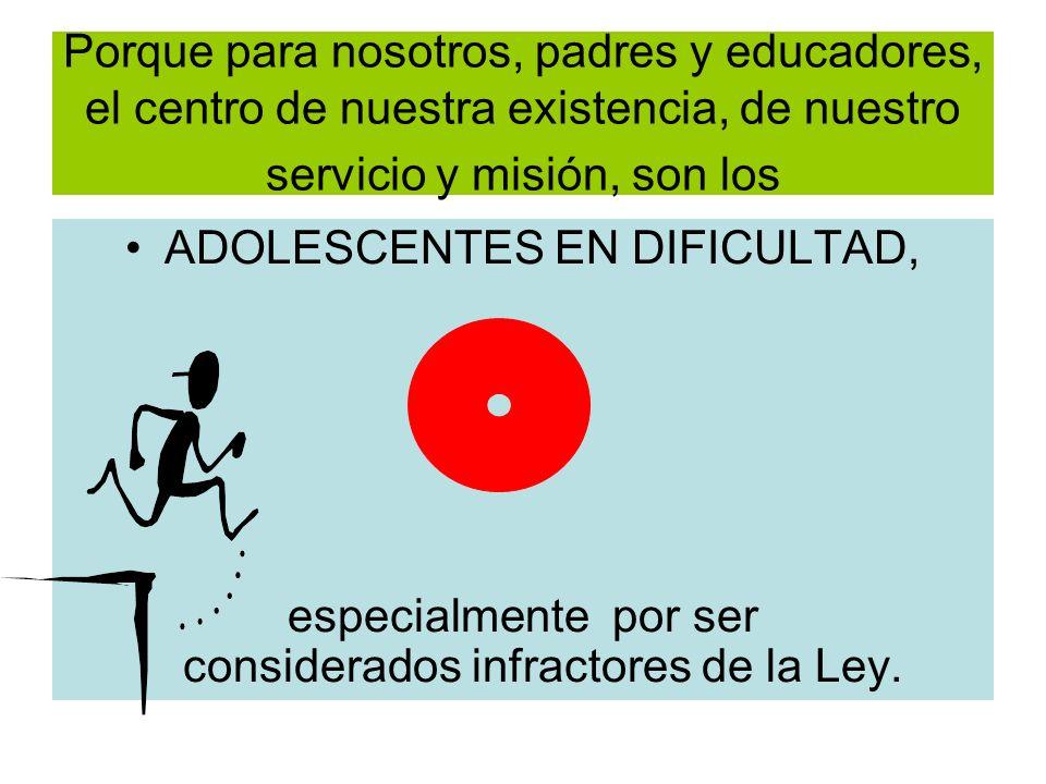ADOLESCENTES EN DIFICULTAD,