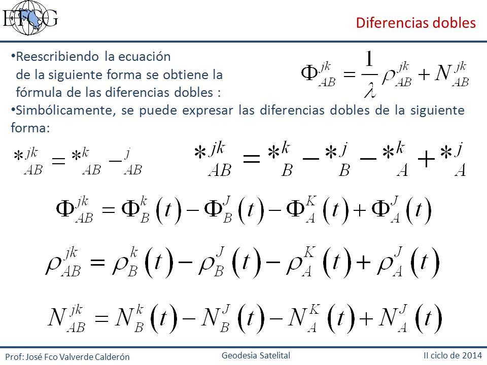 Diferencias dobles Reescribiendo la ecuación