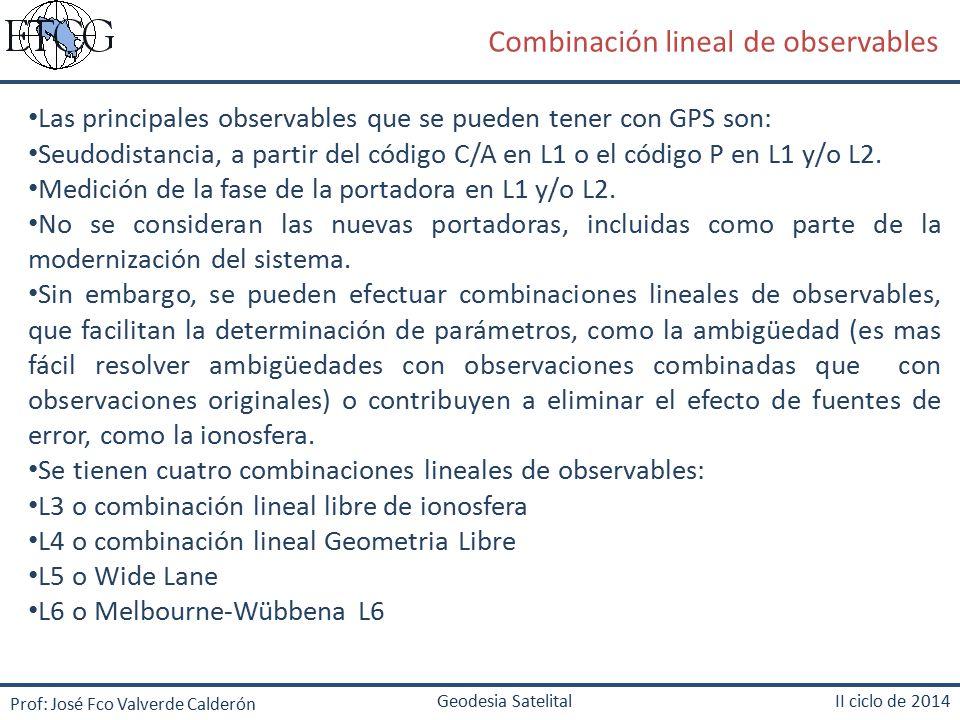 Combinación lineal de observables