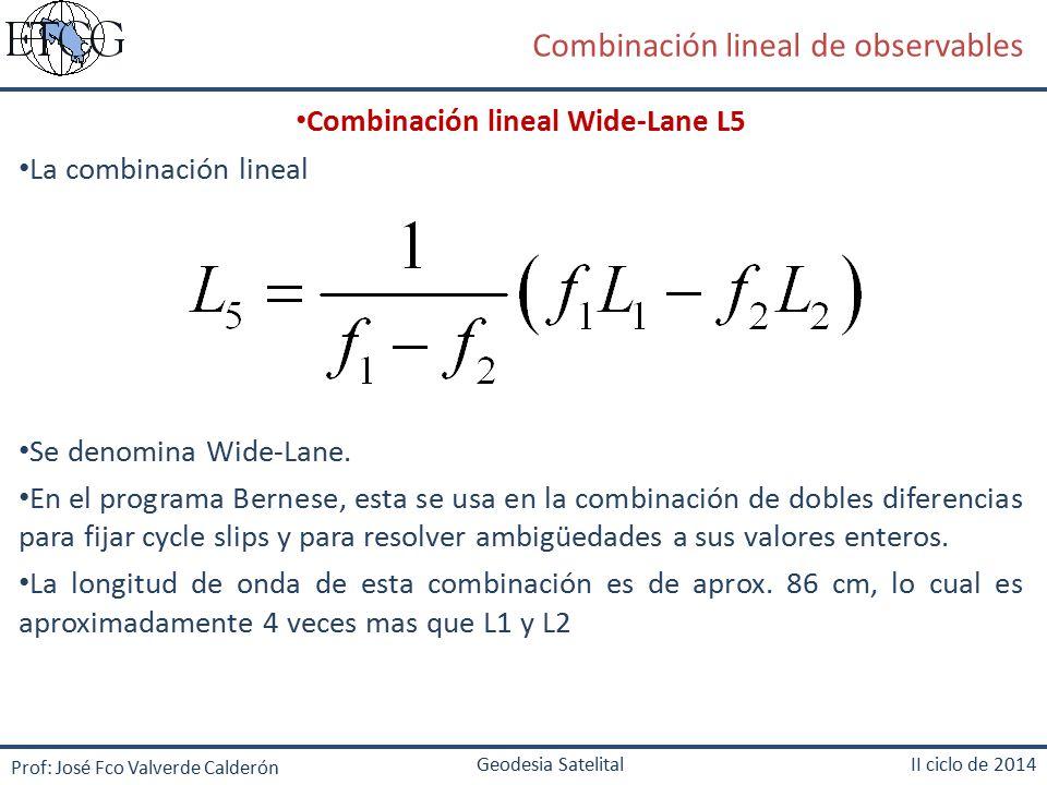 Combinación lineal Wide-Lane L5