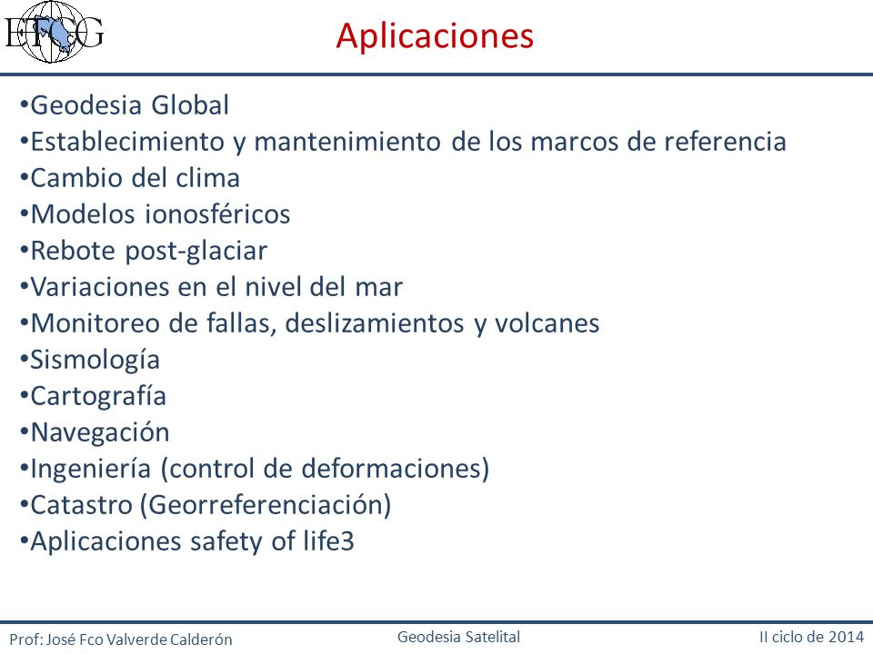 Aplicaciones Geodesia Global