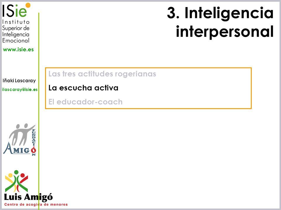 3. Inteligencia interpersonal