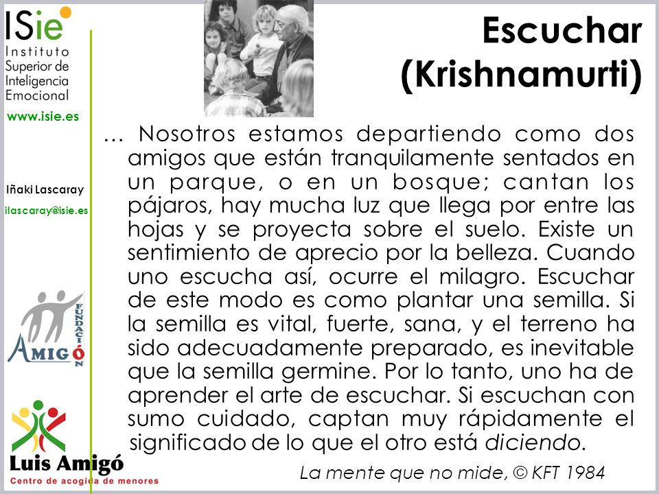 Escuchar (Krishnamurti)