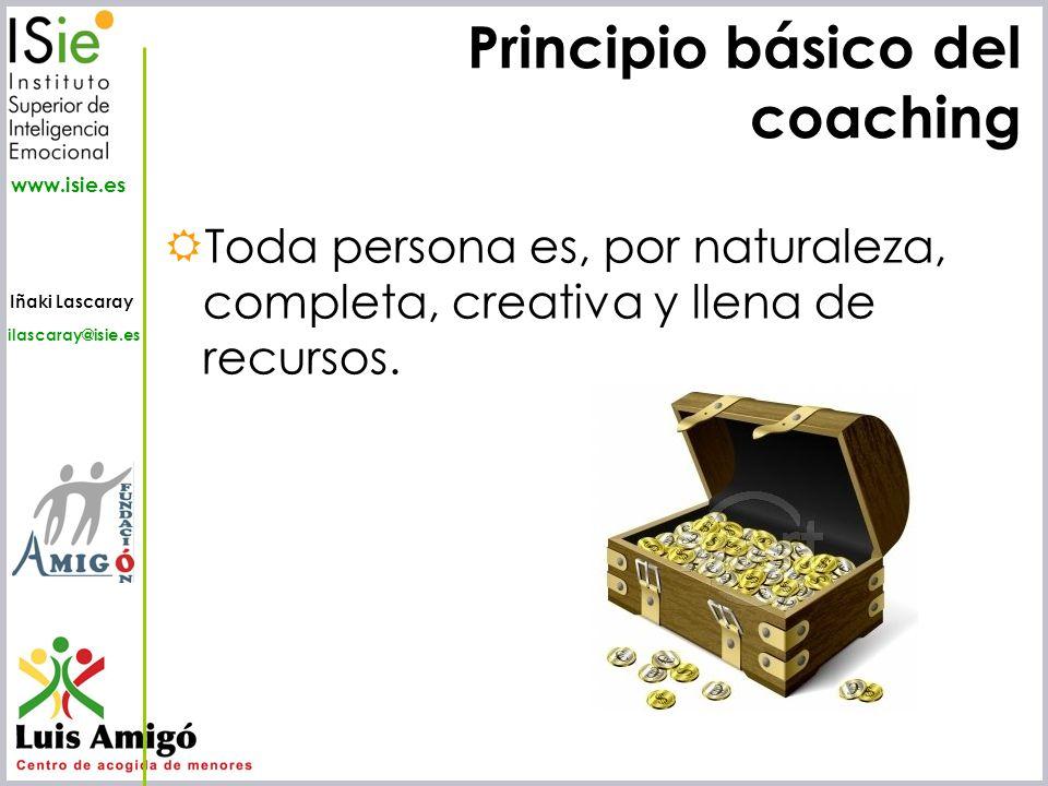 Principio básico del coaching