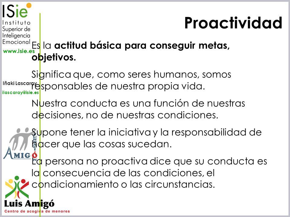 Proactividad Es la actitud básica para conseguir metas, objetivos.