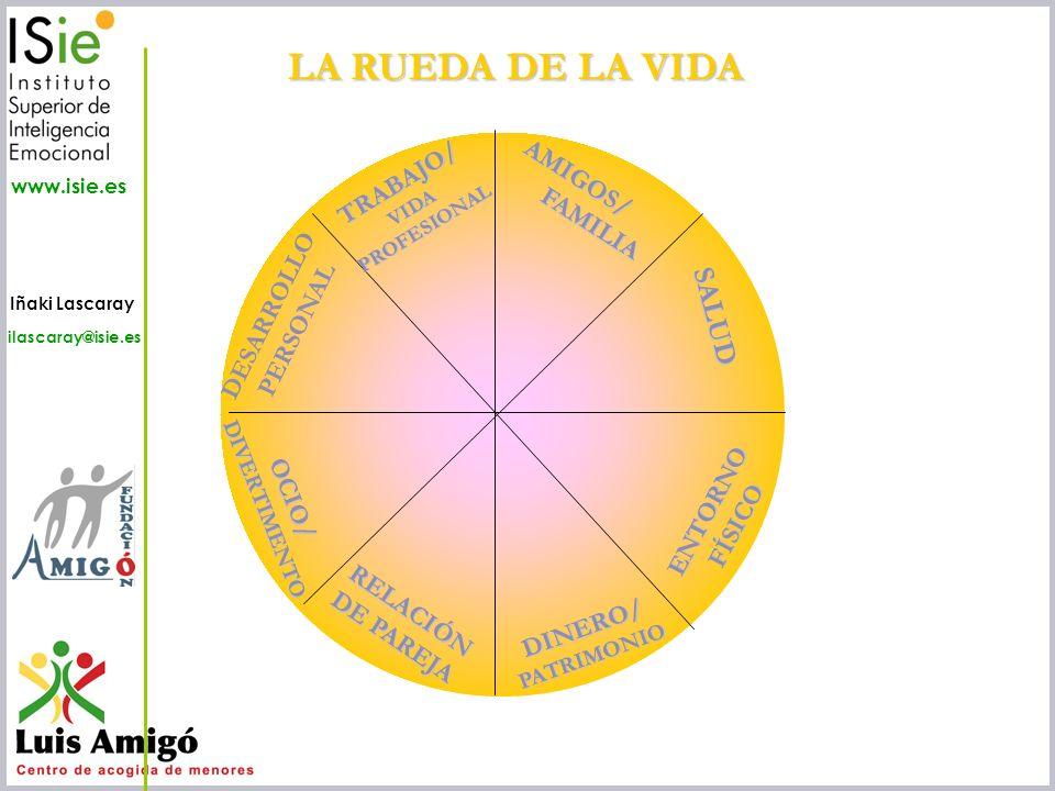 LA RUEDA DE LA VIDA SALUD TRABAJO/ AMIGOS/ FAMILIA DESARROLLO PERSONAL