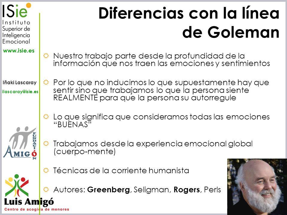 Diferencias con la línea de Goleman