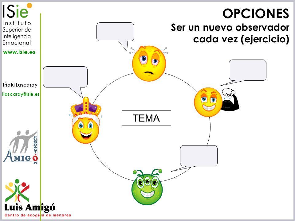 OPCIONES Ser un nuevo observador cada vez (ejercicio) TEMA