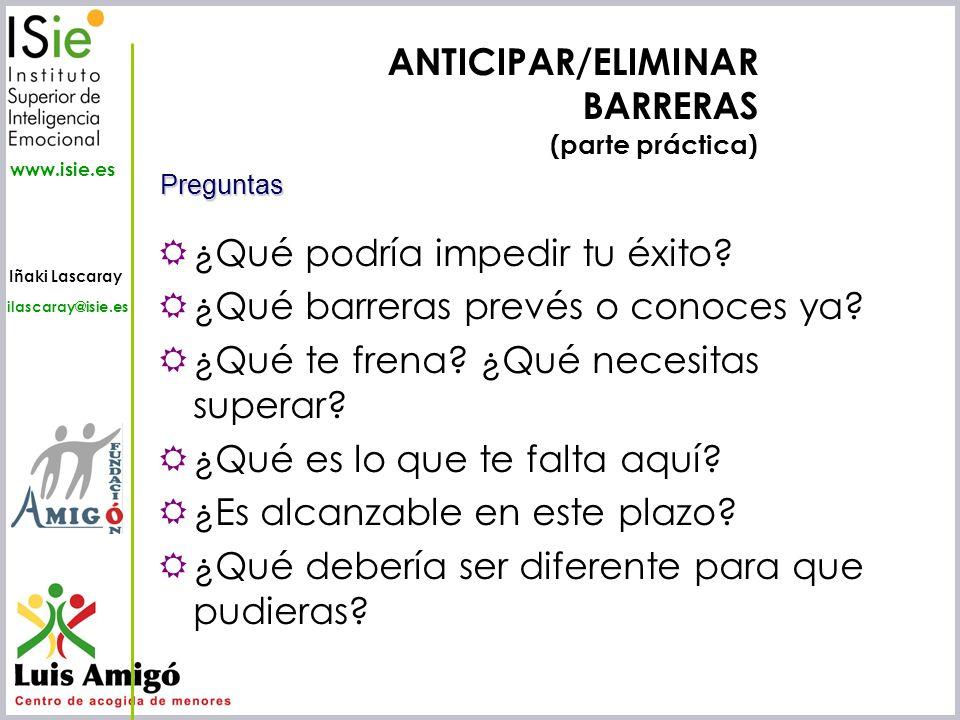 ANTICIPAR/ELIMINAR BARRERAS (parte práctica)