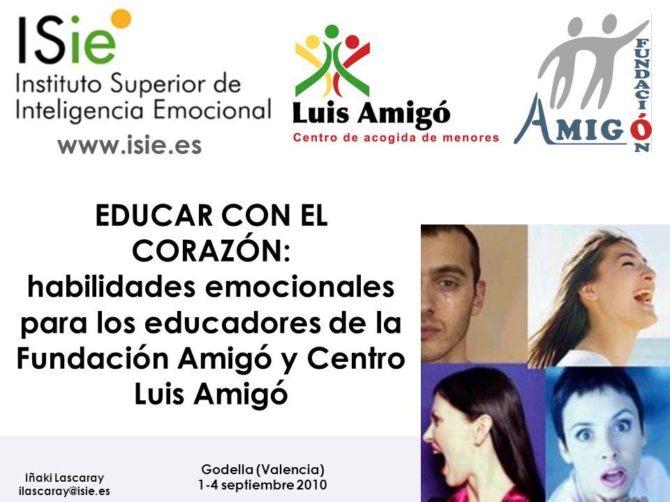 EDUCAR CON EL CORAZÓN: habilidades emocionales para los educadores de la Fundación Amigó y Centro Luis Amigó