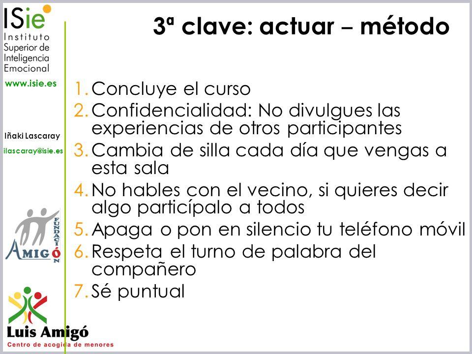 3ª clave: actuar ‒ método