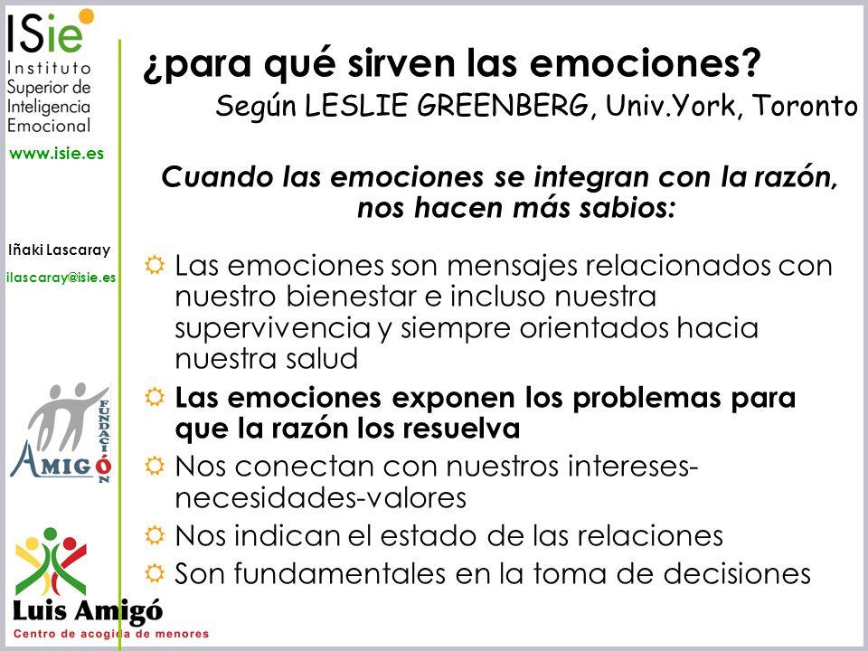 Cuando las emociones se integran con la razón, nos hacen más sabios: