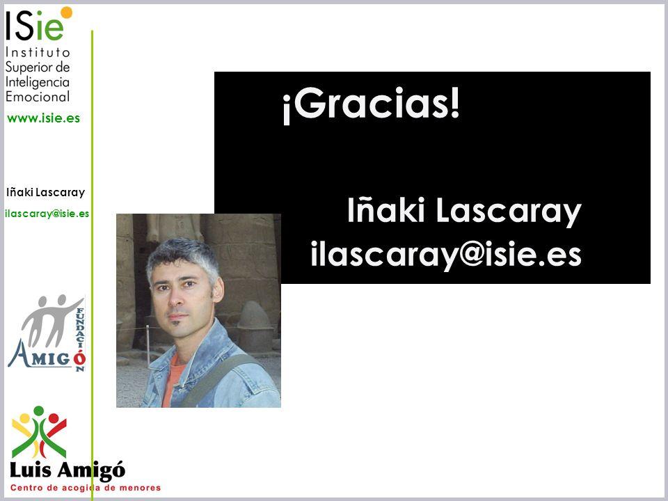 ¡Gracias! Iñaki Lascaray ilascaray@isie.es