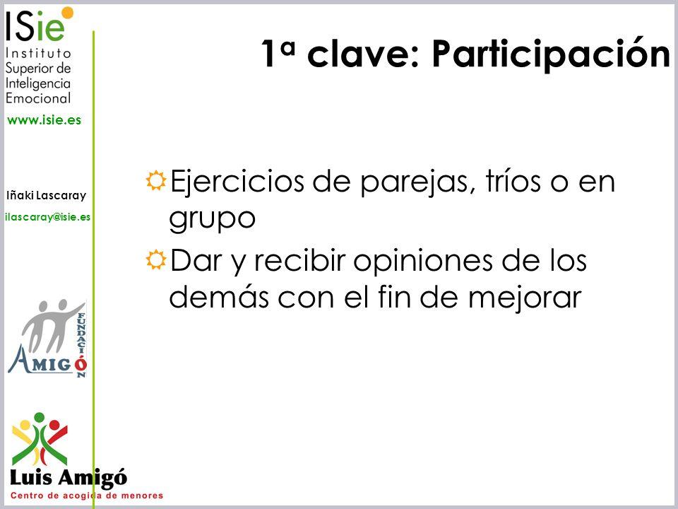 1a clave: Participación