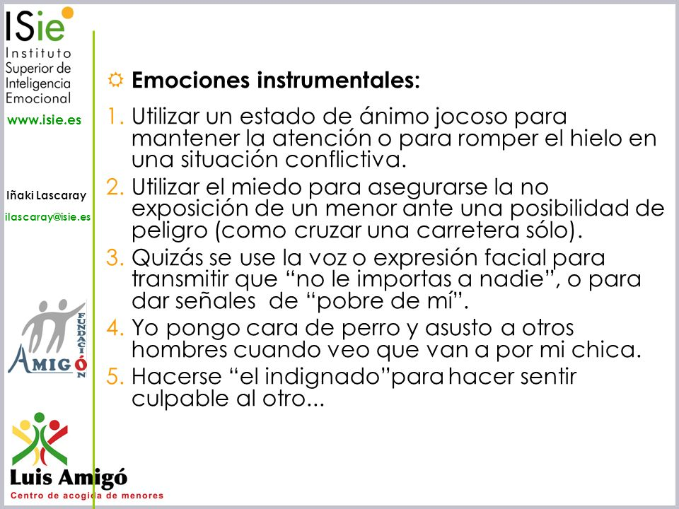 Emociones instrumentales: