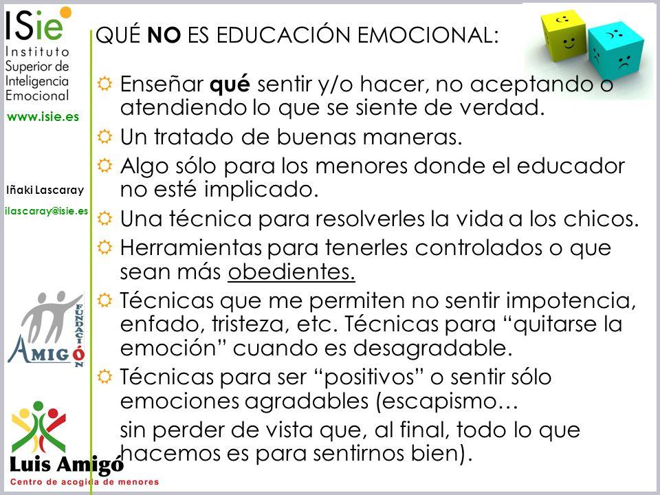QUÉ NO ES EDUCACIÓN EMOCIONAL: