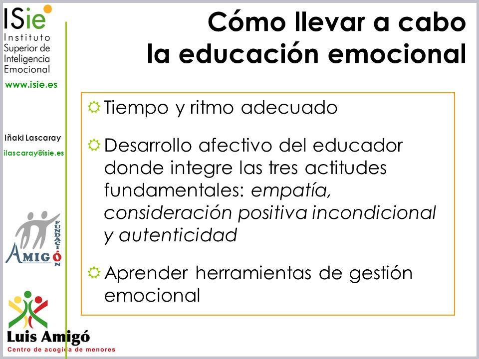 Cómo llevar a cabo la educación emocional