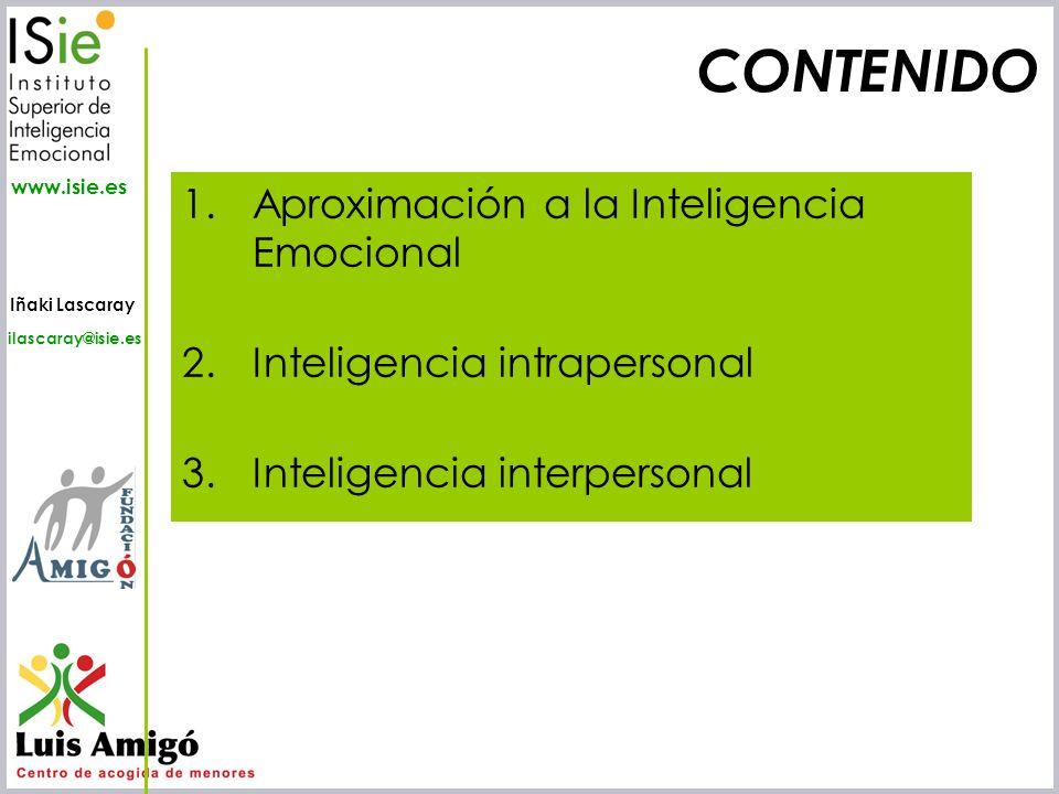 CONTENIDO Aproximación a la Inteligencia Emocional