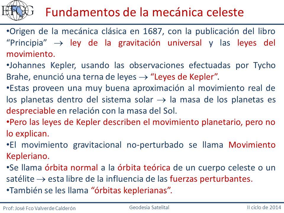 Fundamentos de la mecánica celeste