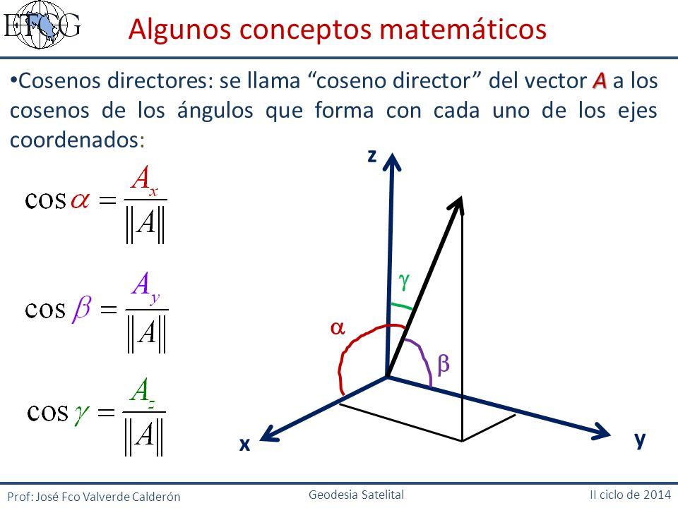 Algunos conceptos matemáticos