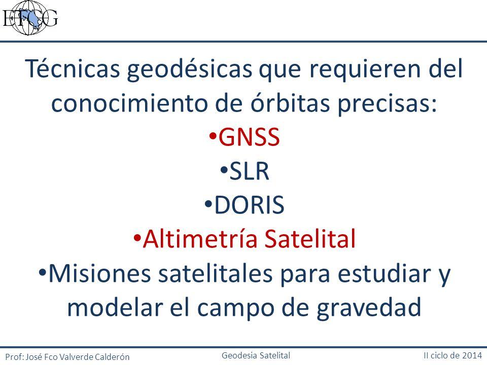 Misiones satelitales para estudiar y modelar el campo de gravedad