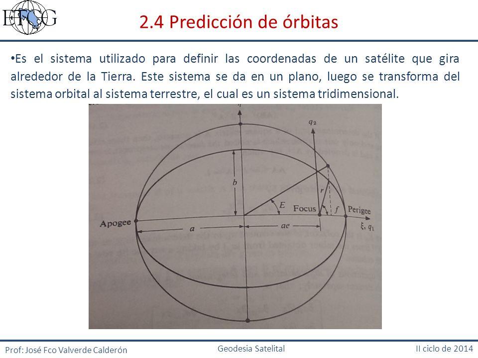 2.4 Predicción de órbitas