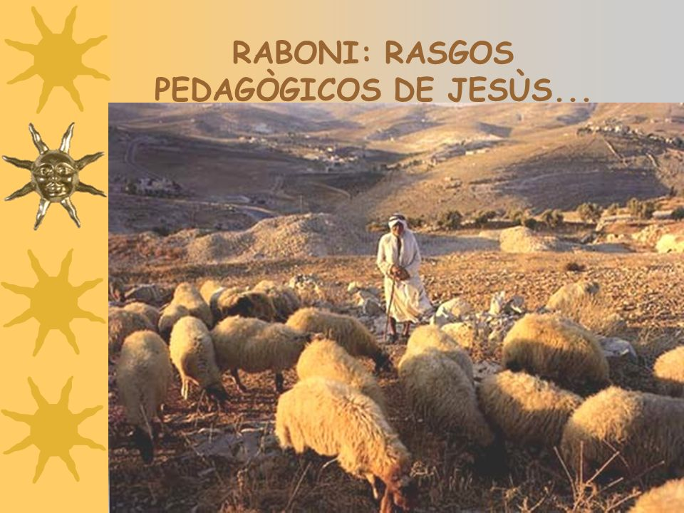 RABONI: RASGOS PEDAGÒGICOS DE JESÙS...