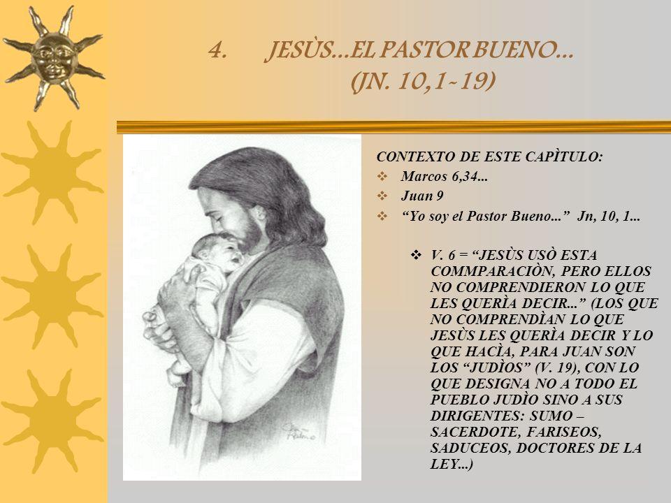 JESÙS...EL PASTOR BUENO... (JN. 10,1-19)