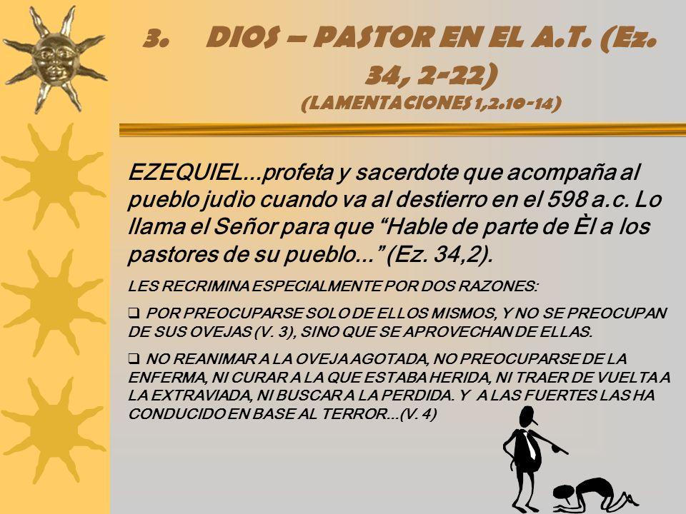 DIOS – PASTOR EN EL A.T. (Ez. 34, 2-22) (LAMENTACIONES 1,2.10-14)