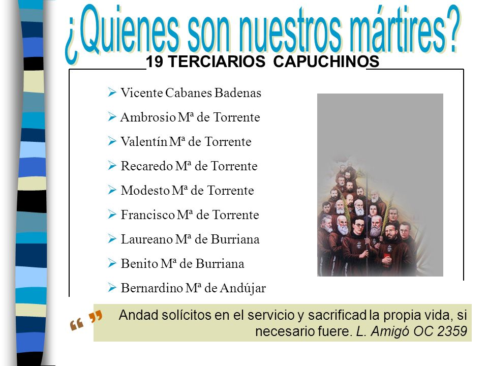 19 TERCIARIOS CAPUCHINOS