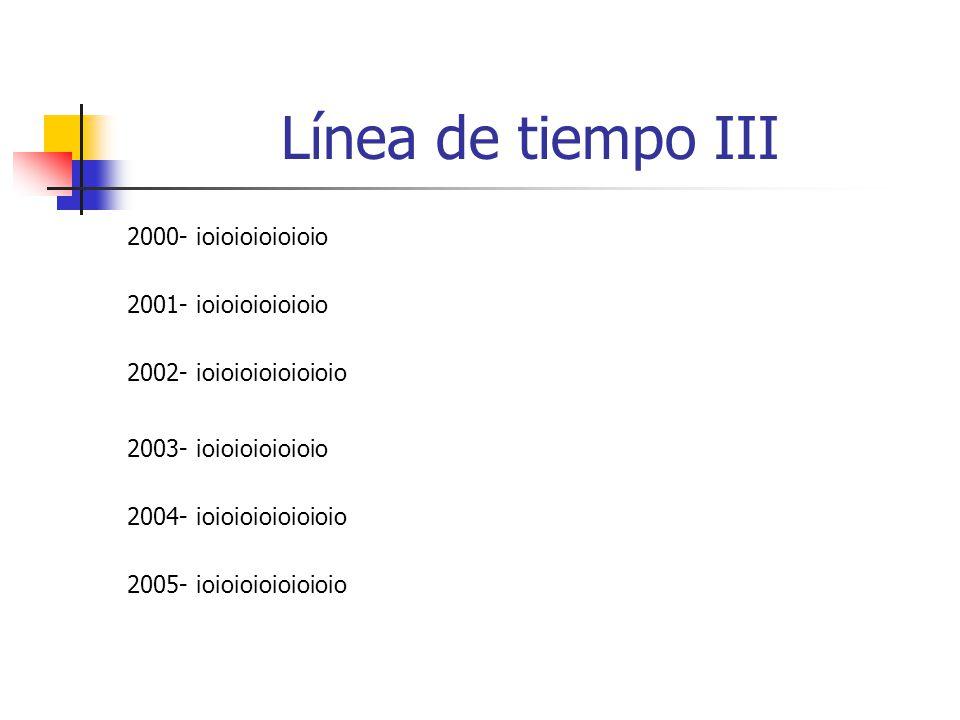 Línea de tiempo III 2000- ioioioioioioio 2001- ioioioioioioio