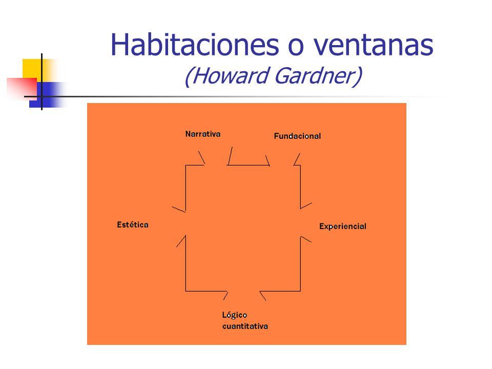 Habitaciones o ventanas (Howard Gardner)