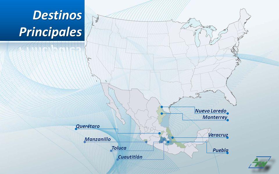 Destinos Principales Nuevo Laredo Monterrey Querétaro Veracruz