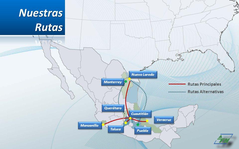 Nuestras Rutas Rutas Principales Rutas Alternativas Nuevo Laredo