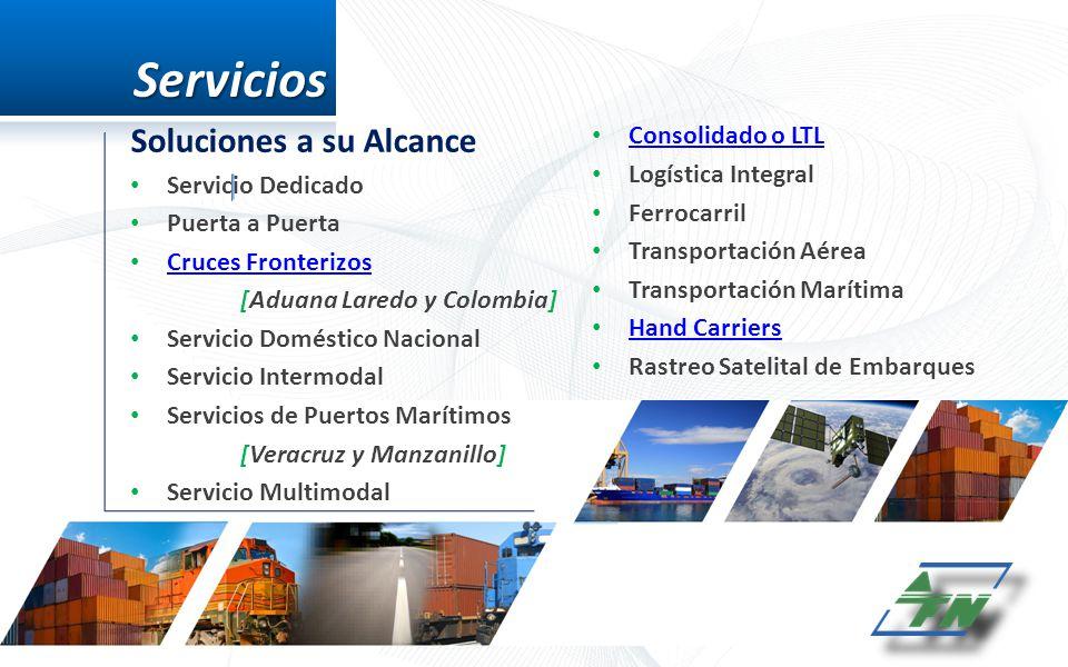 Servicios Soluciones a su Alcance Consolidado o LTL Logística Integral