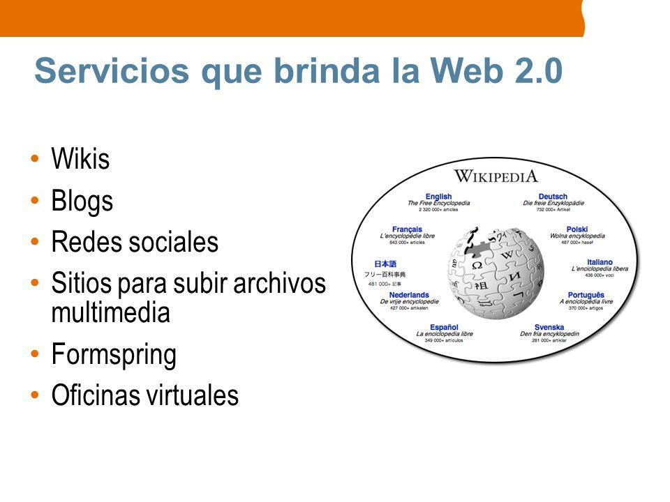 Servicios que brinda la Web 2.0