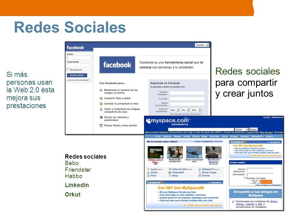 Redes Sociales Redes sociales para compartir y crear juntos