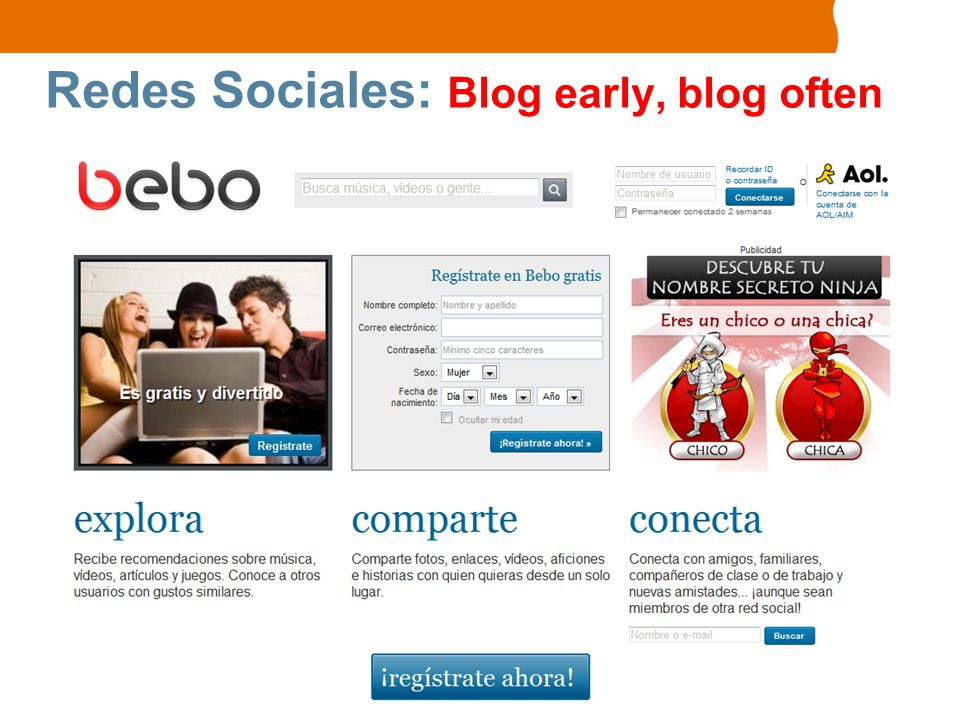 Redes Sociales: Blog early, blog often