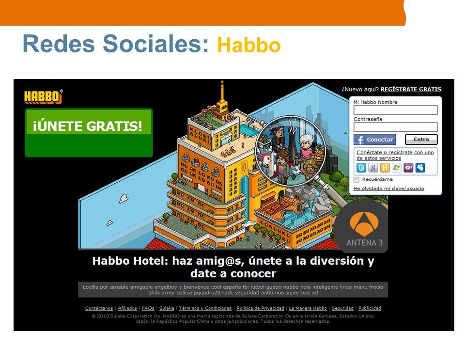Redes Sociales: Habbo