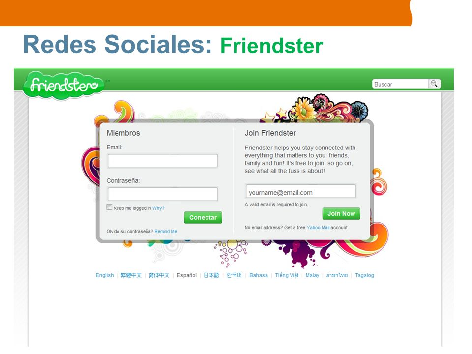 Redes Sociales: Friendster