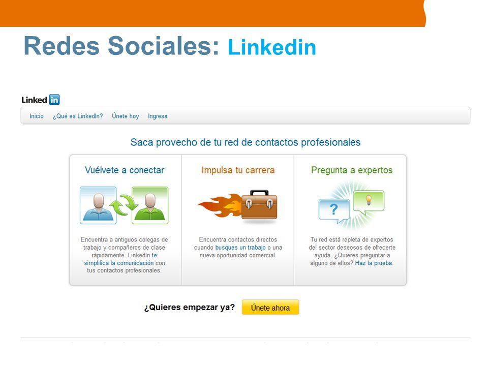 Redes Sociales: Linkedin