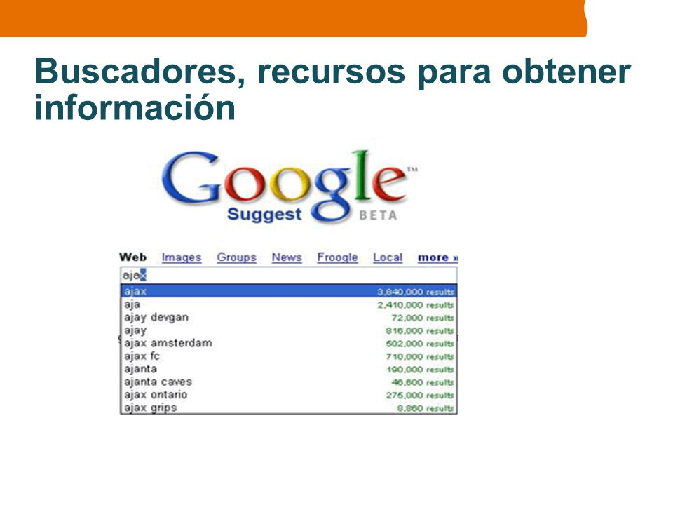 Buscadores, recursos para obtener información