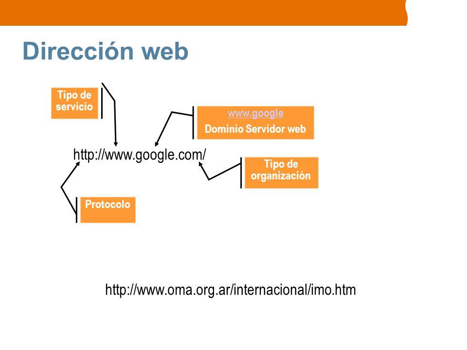 Dirección web http://www.google.com/