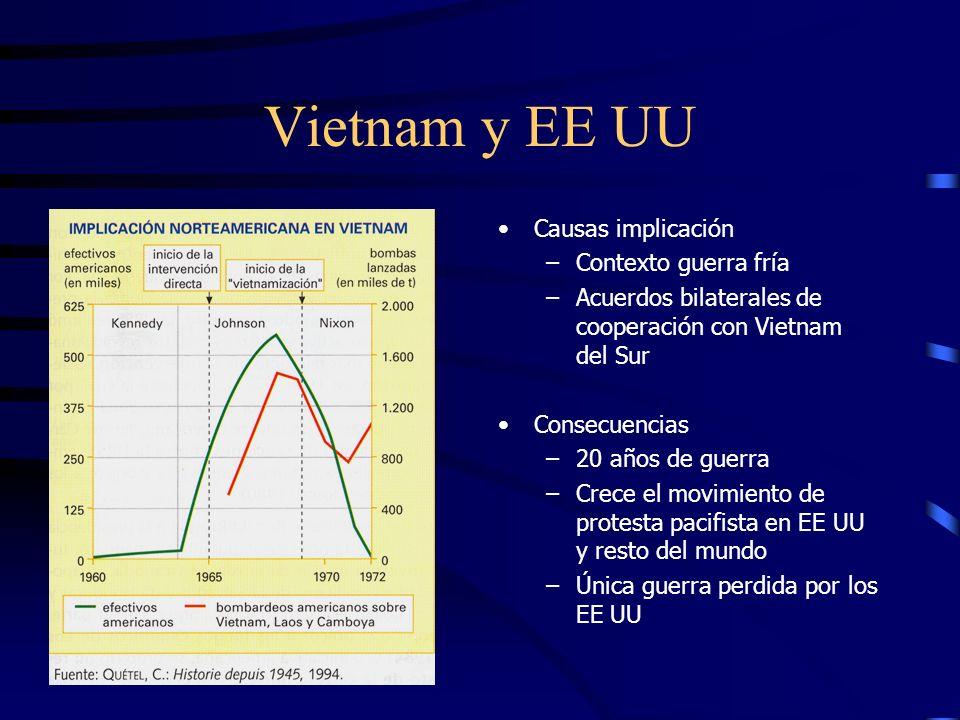Vietnam y EE UU Causas implicación Contexto guerra fría