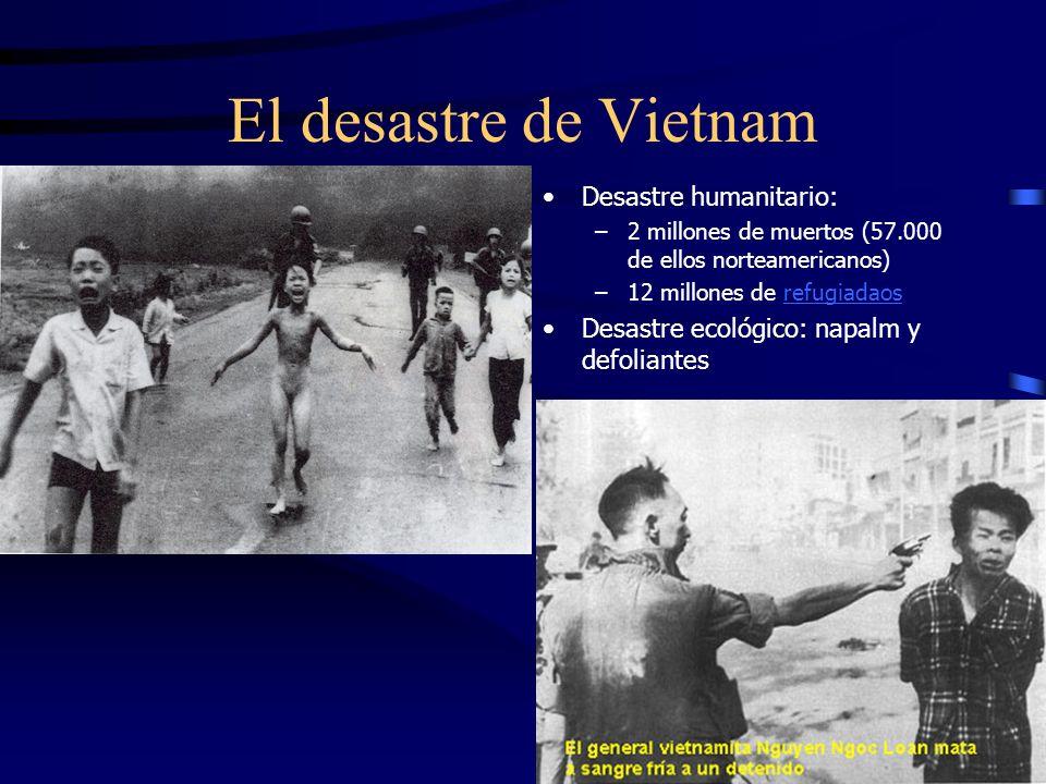 El desastre de Vietnam Desastre humanitario: