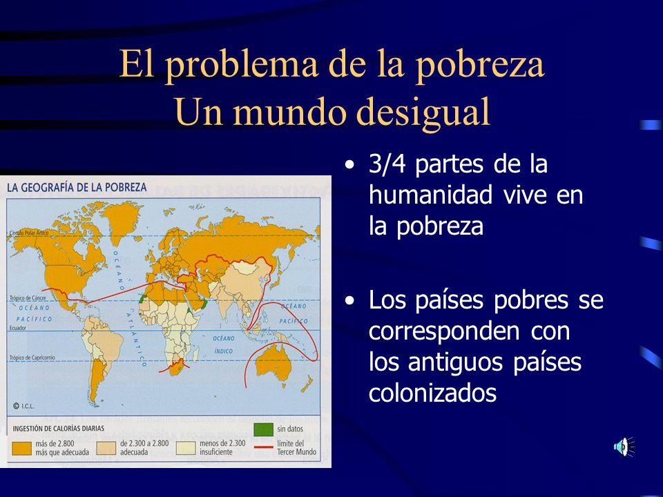 El problema de la pobreza Un mundo desigual