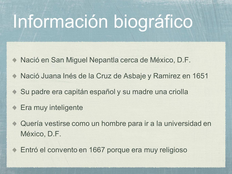 Información biográfico
