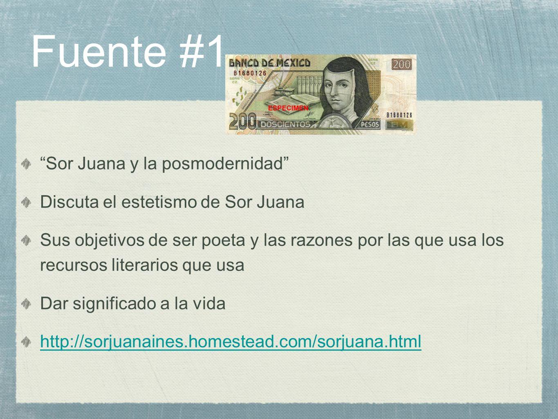 Fuente #1 Sor Juana y la posmodernidad