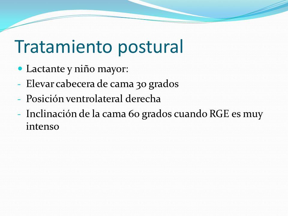 Tratamiento postural Lactante y niño mayor: